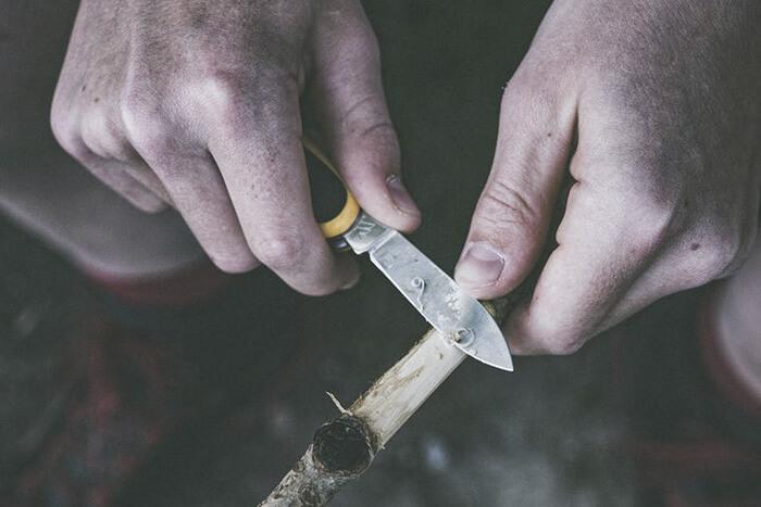 Kniv med logo